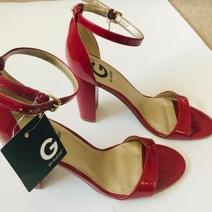 G by Guess Patent Leather Platform Sandals